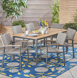 Fiddle Outdoor 5 Piece Dining Set with Wood Top by Christopher Knight Home (Table + 4 Chairs)