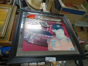 Budweiser Dale Earnhardt Picture With Mirror  Border  * Framed*