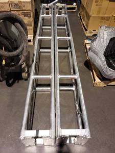Lot (2) aluminum support stands
