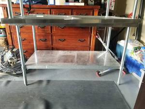 5ft Stainless Table With 2in Back