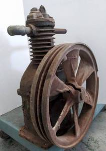 Cast Iron Curtis Air Compressor- As Shown- Compression