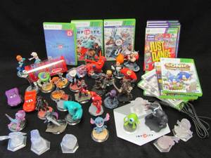 Xbox 360 Infinity Figures & Games- HUGE LOT- Disney and More!