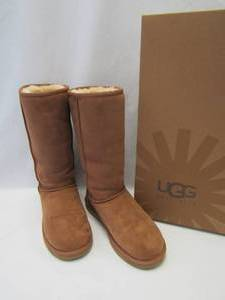 UGG Australia Classic Tall Camel Brown Boots ~ 5815 ~ Size: 7 AUTHENTIC