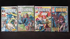 1992 Marvel Comics Deaths Head 2 ~ #1 December,  & Issue #1, 2 & 3 (of 4) March, April, & May