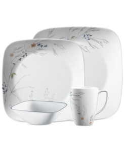 Corelle Boutique Adlyn Square 16-Piece Dinnerware Set