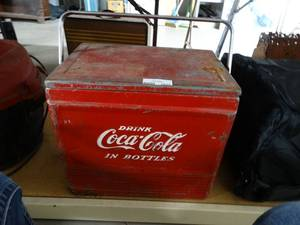 Vintage Metal Coca Cola Cooler