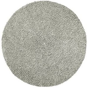 Shagadelic Chenille Twist Round Rug, 5 by 5-Feet, Gray
