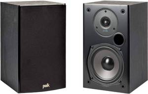 Polk Audio T15 100 Watt Home Theater Bookshelf Speakers (Pair) - Premium Sound at a Great Value | Dolby and DTS Surround | Wall-Mountable,Black