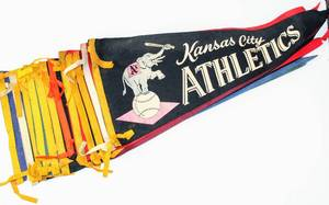 Rare collection 12 Vintage American Baseball Teams Felt Flag Pennants - Kansas City Athletics, Red Sox, Baltimore Orioles, New York Yankees ...