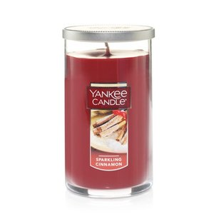 Yankee Candle Medium Perfect Pillar Scented Candle, Sparkling Cinnamon