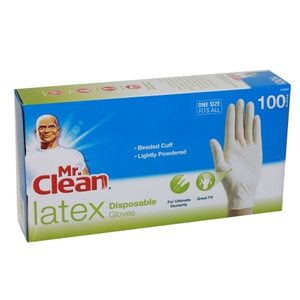 Mr. Clean Disposable Gloves, Latex, 100 Ct