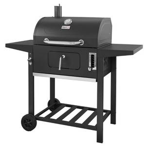 "24"" CD1824A Charcoal Grill with Side Shelves Black - Royal Gourmet"