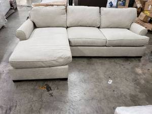 Townsend Roll Arm Upholstered Sofa with Chaise Sectional