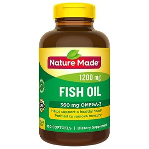 Nature Made Fish Oil 1200 mg+360 mg Omega-3 Liquid Softgels - 180 Count