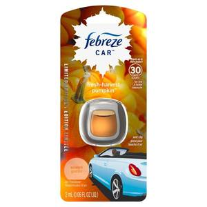 Febreze Fresh-Harvest Pumpkin Scented Car Air Freshener - 1ct - 0.06oz