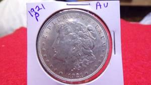 1921 MORGAN DOLLAR - AU