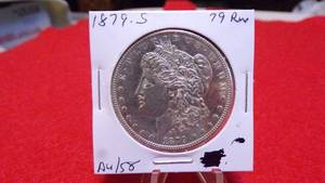 1879-S Morgan Silver Dollar  AU58