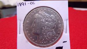 1891-CC  Morgan Silver Dollar  F