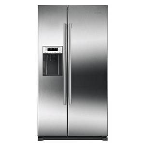 Bosch - 300 Series 20.2 Cu. Ft. Side-by-Side Counter-Depth Refrigerator - Stainless steel