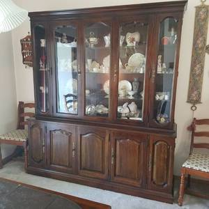 china cabinet - no contents - Davis cabinet company - solid cherry