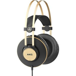 AKG K92 Closed-Back Headphones - Stereo - Wired - 32 Ohm - 16 Hz 22 kHz - Gold Plated - Over-the-head - Binaural - Circumaural - 9.84 ft Cable