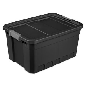 Sterilite 19 gal Stacker Tote, Black