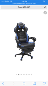 High dollar gaming chair I would make excellent office chair in box for easy transport assembly required new