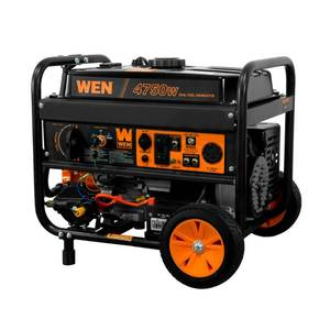 WEN 4750-Watt 120V/240V Dual Fuel Portable Generator with Wheel Kit and Electric Start - CARB Compliant