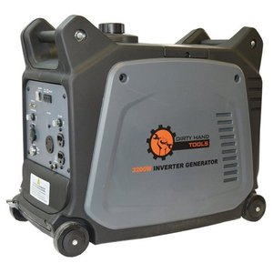 Dirty Hand Tools | 104612 | 3200 Watt Gas Powered Electric Start Inverter Generator | Portable Power Supply | 6 Hour Run Time | 2-120V AC Outlets, 1-12V DC Port, 1-USB Port, 1-120V L5-30R RV Plug