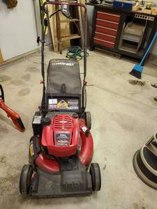 Troy bilt electric start, self propelled mower, starts easy and runs well