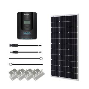 Renogy 100W 12V Monocrystalline Solar Starter Kit with 20A Rover MPPT Charge Controller. Damaged Screen.