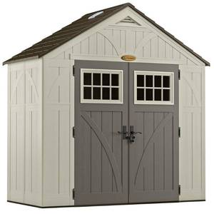 Suncast Tremont Storage Shed for Backyard, Vanilla, 8'x4', 206 cu. ft.