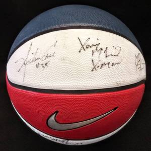 Autographed Basketball Signed Wichita Shocker Legends — Dave Stallworth '65, Cleo Littleton '55, Xavier McDaniel '87/96, Antoine Carr '83 & Cliff Levingston '84
