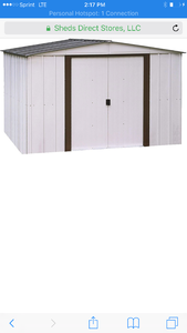 New in box 10' x 8' storage shed