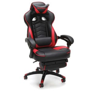 RESPAWN Racing Style Gaming Chair, Reclining Ergonomic Leather Chair with Footrest