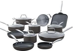 Stone & Beam Hard-anodized Non-stick Aluminimum 17 Piece Pots and Pans