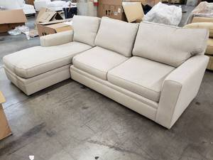 Pearce Roll Arm Upholstered Sectional with Lounger
