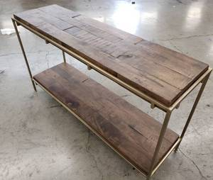 Simien Console Table Aged Brass