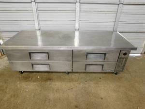 True 7' Chef's Base Stainless