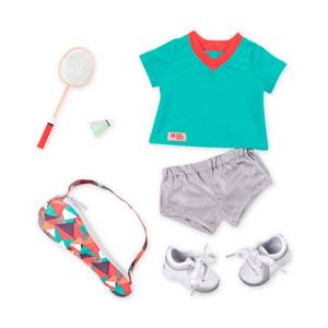 "Our Generation Deluxe Badminton Outfit for 18"" Dolls - Forward Swing"