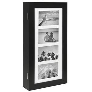 Wall Mount Jewelry Armoire Cabinet w/ 4 Picture Frames