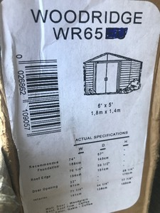 New in box 6' x 5' storage shed assembly required