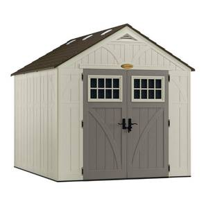 Suncast Tremont 8' x 10' Storage Shed for Backyard, Vanilla, 574 cu. ft.