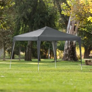 Best Choice Products Outdoor Portable Adjustable Instant Pop Up Gazebo Canopy Tent w/ Carrying Bag, 10x10ft - Dark Gray