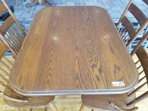 Walter of Wabash Oak Clawfoot Table and Chair Set