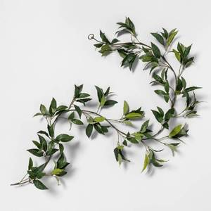 72 Faux Bay Leaf Garland - Hearth & Hand with Magnolia, Green