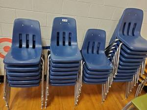 Lot of 28 Blue Children's School Chairs