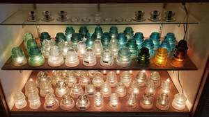Glass Insulators ~ Various Colors, Brands and Styles ~ 80 pcs ~ mostly Hemingray