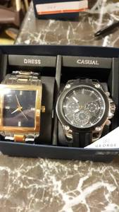 George Mens Wrist Watch Set Dress & Casual 2 Pack