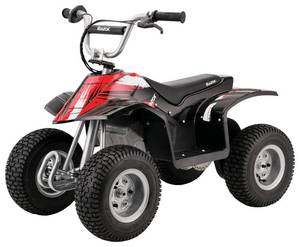 "Razor Dirt Quad – 24V Electric 4-Wheeler Ride-On for Kids 8+, Twist-Grip Variable-Speed Acceleration Control, Hand-Operated Disc Brake, 12"" Knobby Air-Filled Tires"